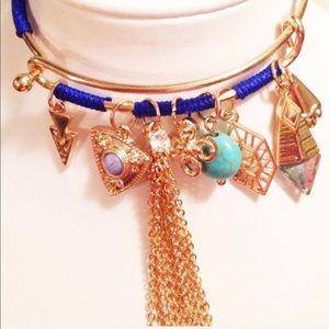Jewelry - NWOT Charmed Bangle Gold Tone Tassel